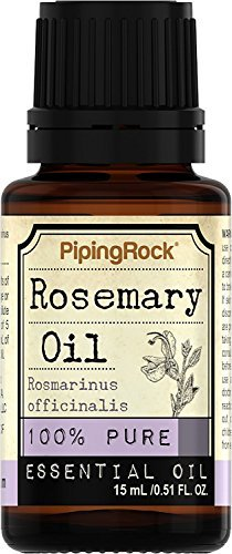 Piping Rock Rosemary 100% Pure Essential Oil 1/2 oz (15 ml) Dropper Bottle Rosmarimus ()