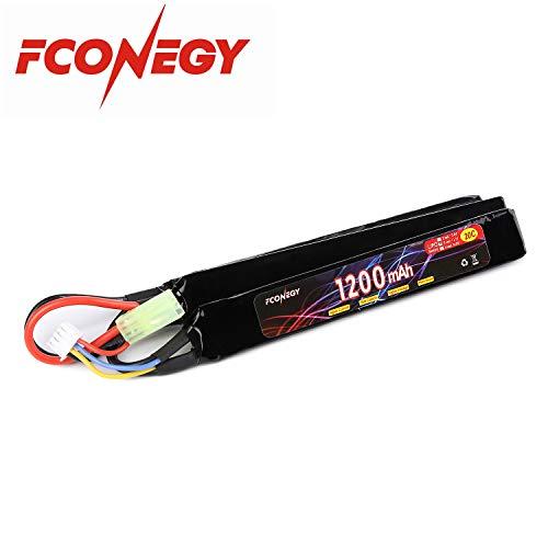 FCONEGY 3S 11.1V 1200mAh 20C Lipo Batería con pequeño enchufe Tamiya para pistola / rifle Airsoft