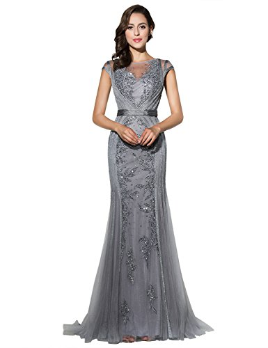 Sarahbridal Girls Mermaid Gown Prom Dresses Elegant Party Ball Dress Beaded...