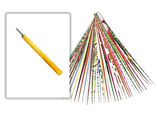 Paper Bead Roller Tool 2MM Slotted Tip with Pack of Paper Strips and Digital Instructions from Ground Zero Creations