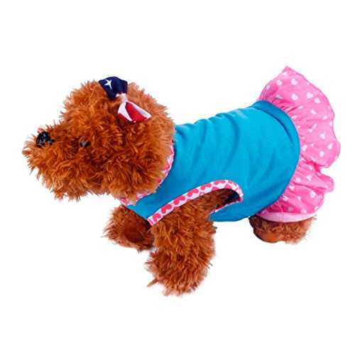 2017 Hot Pet Dress! AMA(TM) Pet Puppy Small Dog Vest Princess Dress Tutu Skirt Doggy Clothes Apparel (S, (Pink Velvet Princess Costume)