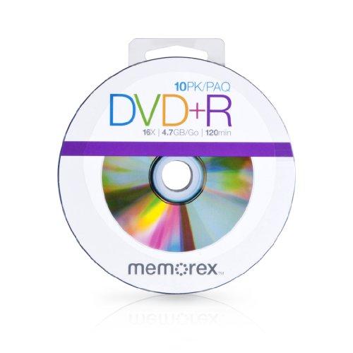 UPC 034707990579, Memorex 99057 DVD+R 16x Discs, 10 Pack