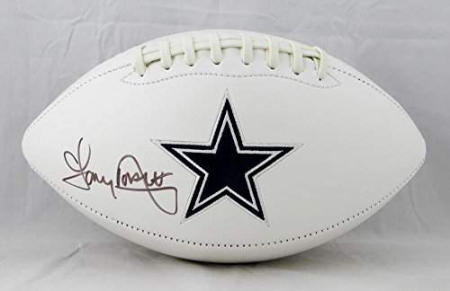 Tony Dorsett Autographed Dallas Cowboys Logo Football- JSA Witnessed Auth -