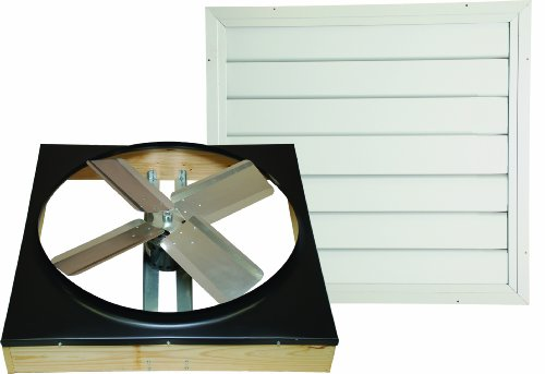 Cool Attic CX242DDWT Drive Drive 2-Speed Whole House Fan with Shutter, Exhaust Fan, (Attic Fan)