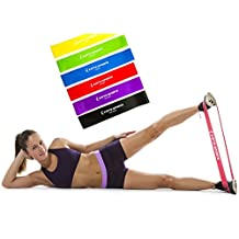 Premium Resistance Loop Bands - Set of 6 Exercise Bands plus Workout Manual