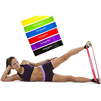 Amazon koyto sports exercise bands premium set of 6 fitness koyto sports exercise bands premium set of 6 fitness resistance loop bands 12x fandeluxe Images