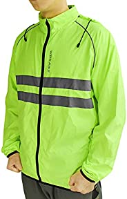 Lixada Men's Windproof Hooded Cycling Jacket Waterproof Jacket High Visibility Bicycle Rain Suit Cycling J