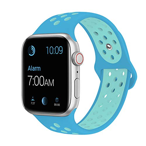 SMEECO Compatible with iWatch Band 42mm 44mm S/M,Soft Breathable Silicone Strap Replacement iWatch Bands for iWatch Series 4,Series 3, Series 2, Series 1 Sport Nike (Watches Ebay)