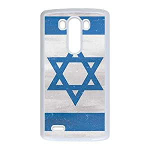 LG G3 Cell Phone Case White_Israel Flag Distressed Fyyhp
