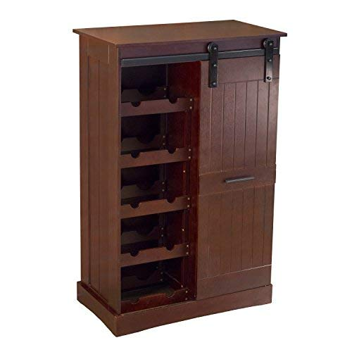 (northbeam WNR0051710800 Oxford Bar Wine Cabinet, Espresso)