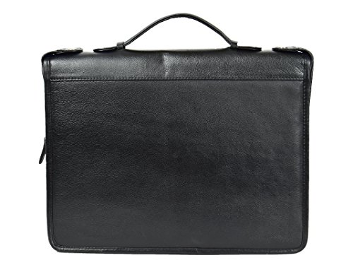 Black Real Grab Hl49 Folio Case Document Leather Handle Folder With Conference qxrHvRZwq