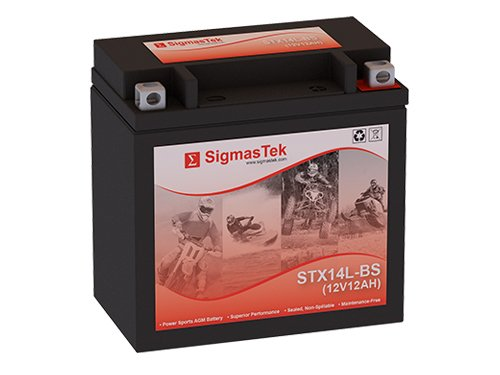 12 Volt 12 Amp Hour Sealed Lead Acid Battery Replacement with NB Terminals by SigmasTek STX14L-BS
