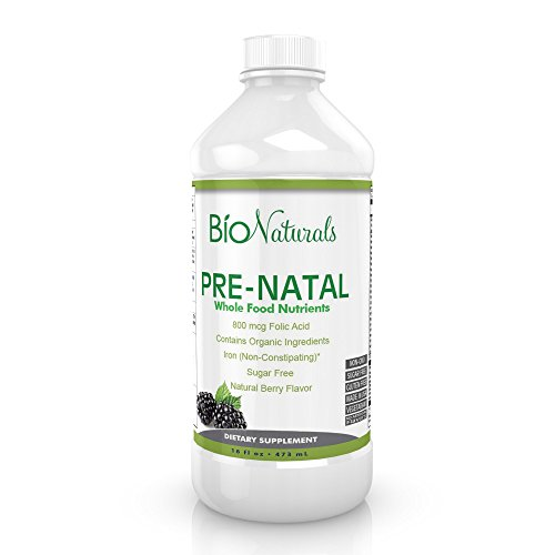 Prenatal Liquid Vitamins for Women - 100% Organic & Vegetarian Supplement w/ Whole Food Nutrients Absorbs Better Than Pills - All Essential Daily Vitamins for Pregnancy - No Sugar or Gluten - 16 fl oz (Liquid Dha Vitamins)