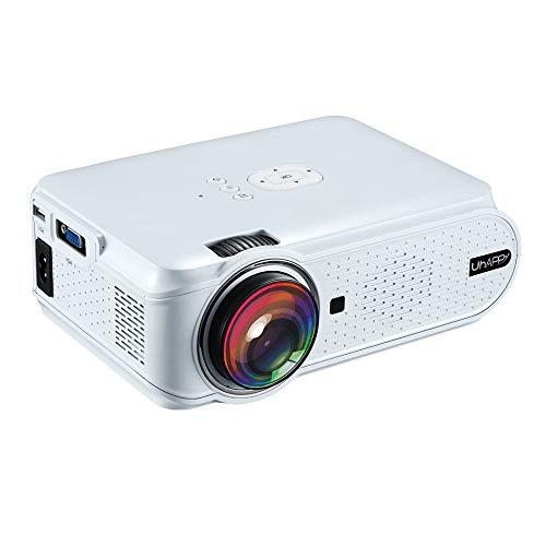 KUNAW U90 Multimedia LED Projector 2000 Lumens LCD LED Display Home Theatre Cinema 800480 USB/SD/VGA/HDMI/AV/Micro USB/ATV