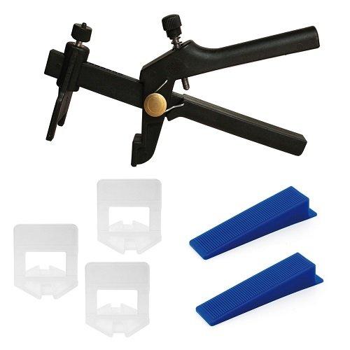 Lantelme 5096 Set 1, 5mm Fugenbreite 250 St Zuglaschen und 100 St Keile und 1 Zange ID5096