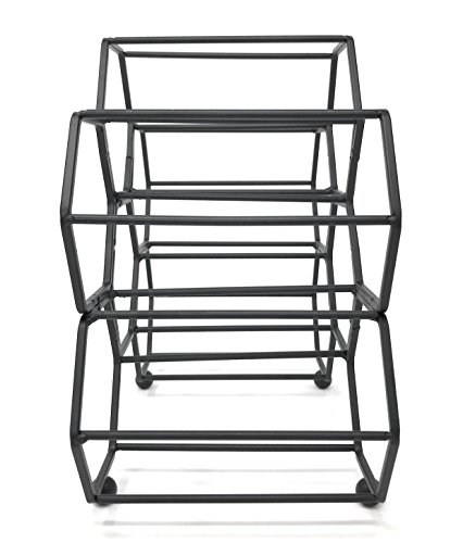 Clever Home Modern Hexagon 6 Bottle Table Top Steel Wine Rack (Matte Black) by Clever Home (Image #2)