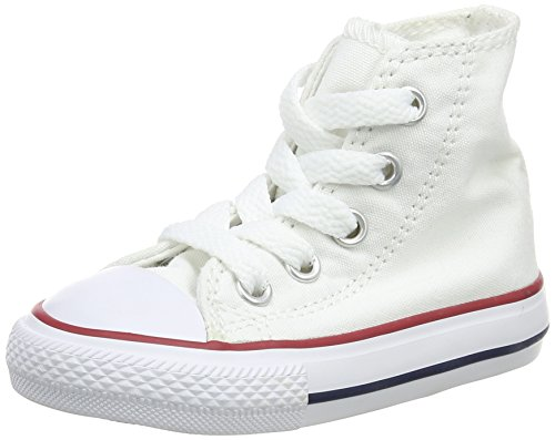 Converse Unisex Baby Infant Chuck Taylor All Star Hi Top - White - 4 Infant