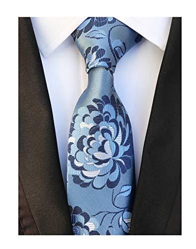 Sky Blue Navy Young Woven Silk Ties Fashion Gentleman Dress Nice Boys Neckties