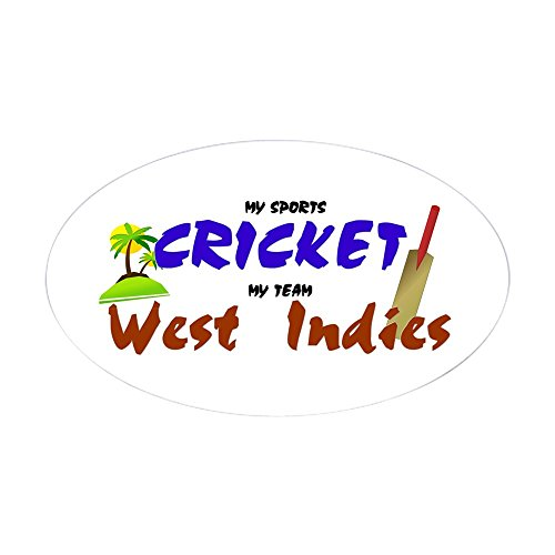 CafePress West Indies Cricket Oval Sticker Oval Bumper Sticker, Euro Oval Car Decal