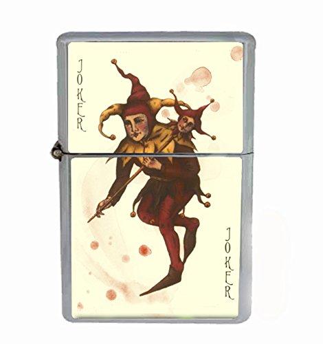 Joker Card Poker Flip Top Oil Cigarette Lighter