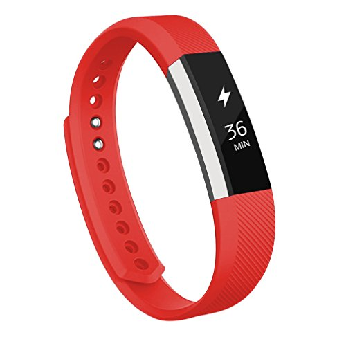 Watch Wrist Strap for Fitbit Alta (Red) - 4