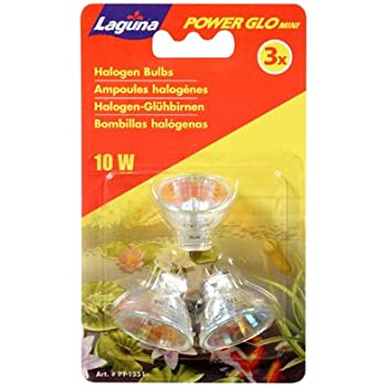 Laguna PowerGlo Mini Replacement Halogen Bulbs, 10-Watt, 3-Pack