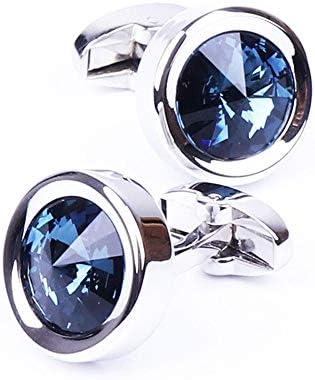 Gemelos de Plata Gemelos de Cristal Gemelos Redondos for la Fiesta de Bodas de los Hombres