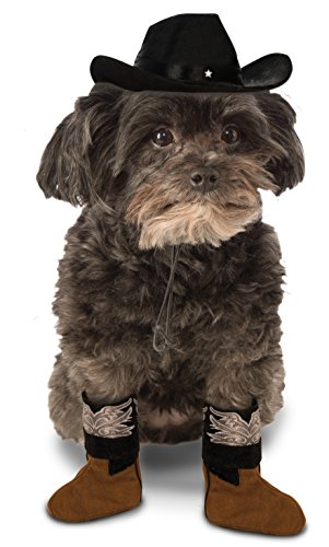 Cowboy Costume Dogs For (Rubie's Dog Costume Cowboy Boot Cuff)
