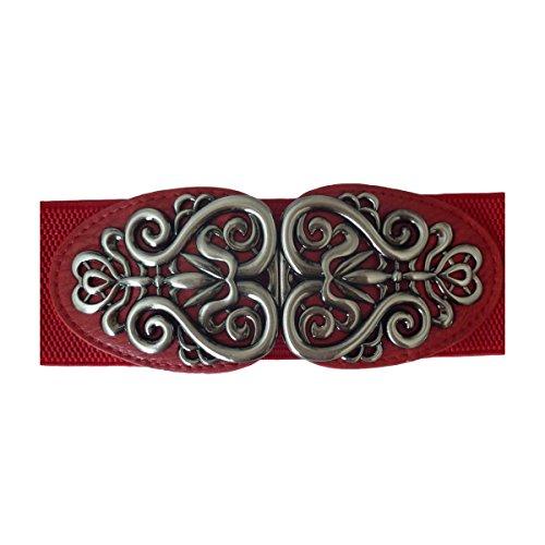 36 Boucle Unique Rot Boutique 42 1 Jolie Ceinture Extensible Avec Décorée SUzFBq