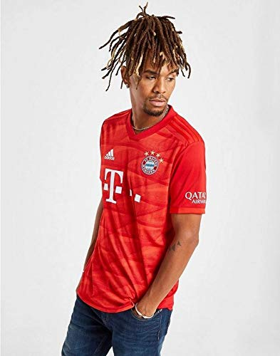 Fc Bayern Munich Red Color Home 19 20 Dry Fit Polyester Half Sleeve Jersey Amazon In Sports Fitness Outdoors