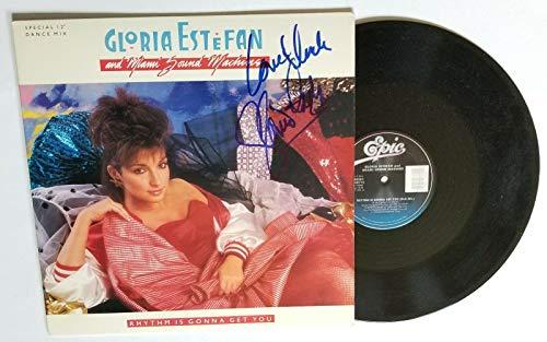 Gloria Estefan SIGNED Rhythm Gonna Get You vinyl single COA Miami Sound Machine (Vh1 Top 100 Artists Of All Time)