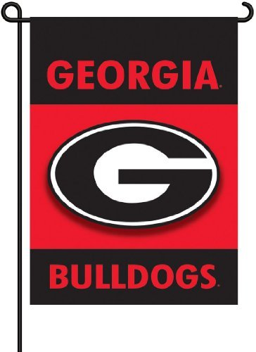 (BSI Georgia Bulldogs 83007 2-Sided Garden Flag Black & Red)