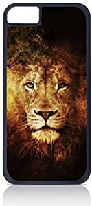 Royal Lion Art- Case for the Apple iphone 5 5s Only-Hard Black Plastic Outer Shell