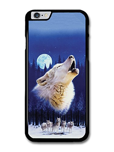 Wolf Howling and Night Moon 3 Wolves in the Forest Illustration case for iPhone 6 Plus 6S Plus