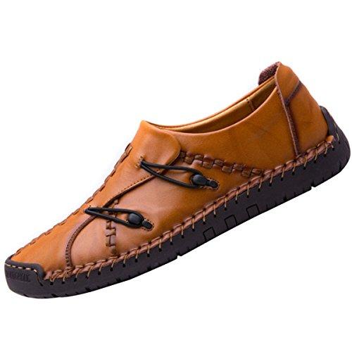 Chaussures En Cuir à La Main De Mode En Cuir à La Main Chaussures Sauvages Confortables Chaussures 4 dwwCMcSiK0