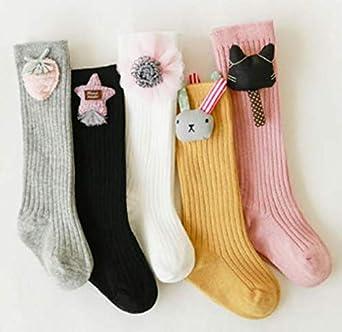 sandanper Toddler Baby Girl Boy Long Cotton Socks Comfortable High Socks Winter Knit Knee For Child 0-3 Years