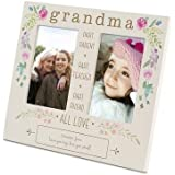 Things Remembered Personalized Grandma Floral Double Opening Frame with Engraving Included