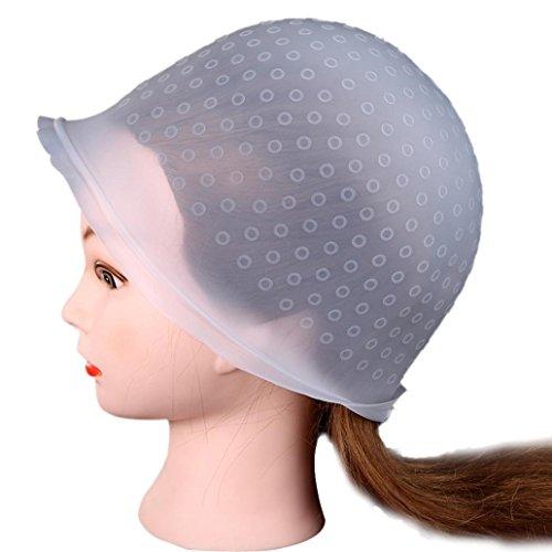 YJYdada Professional Salon Reusable Hair Colouring Highlighting Dye Cap Hat Hook (Clear)