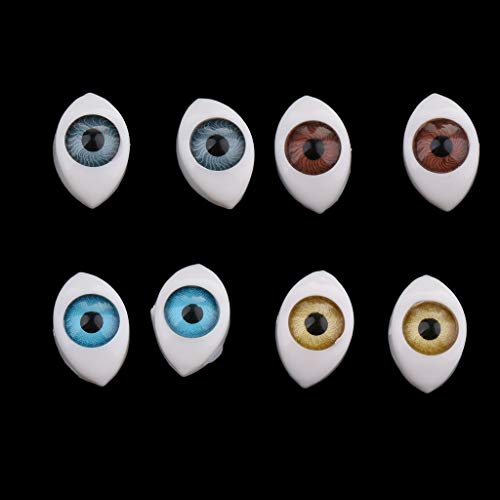 4 Color Oval Hollow Back Plastic Eyes Doll Puppet Mask DIY Accessories 6mm