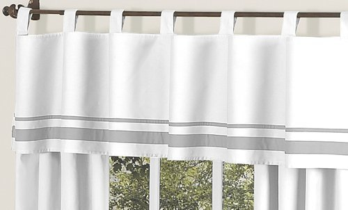 White and Gray Hotel Modern Window Valance by Sweet Jojo De