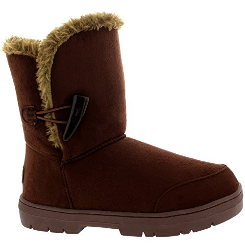 Invierno Lined Rain Classic Botas One Nieve Impermeable Fur Short Mujer Marrón Toggle 1gFqUxw014