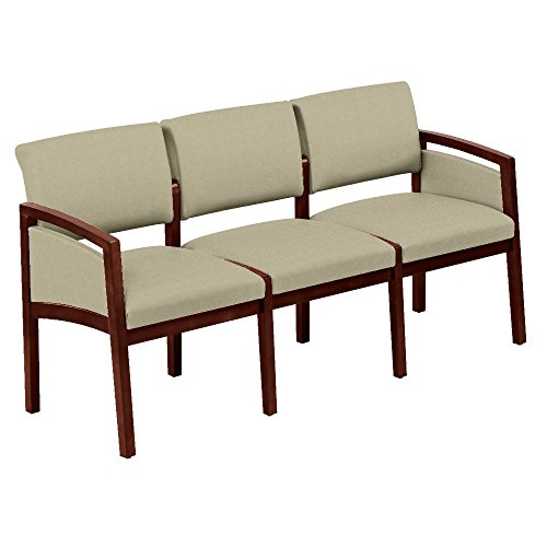One Set, Lenox Panel Arm Three Seat Fabric Loveseat Dimensions: 65