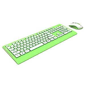 azio hue wireless keyboard and mouse lime green km507gn computers accessories. Black Bedroom Furniture Sets. Home Design Ideas