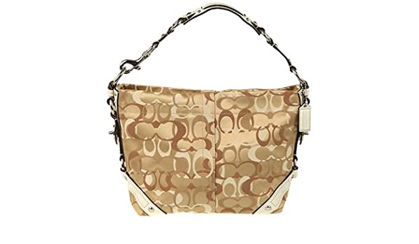 bb76afe41e15 ... order amazon coach signature optic carly shoulder hobo bag purse 13980  khaki white clothing e7f53 9fb5e