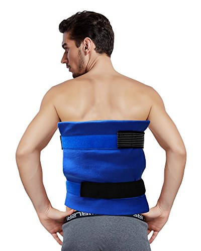 Koo-Care Large Flexible Gel Ice Pack & Wrap with Elastic Straps for Hot Cold Therapy - Great for Sprains, Muscle Pain, Bruises, Injuries - 11'' x 14'') by Koo-Care (Image #3)