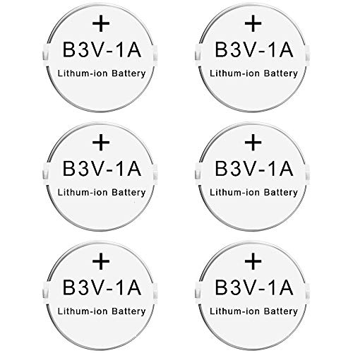 Rfeng B3V 1A Lithium Replacement Battery Compatible with High Tech Pet Single Electronic Collar Battery for Model MS-4 and MS-5(6 Pack) ()