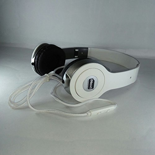 iNext IN 932 U Universal Wired Headphone with Omni Directional Mic  White