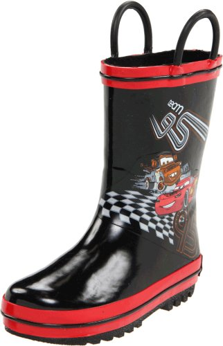 Disney CAF502 Cars Rain Boot (Toddler/Little Kid),Black,8 M US Toddler