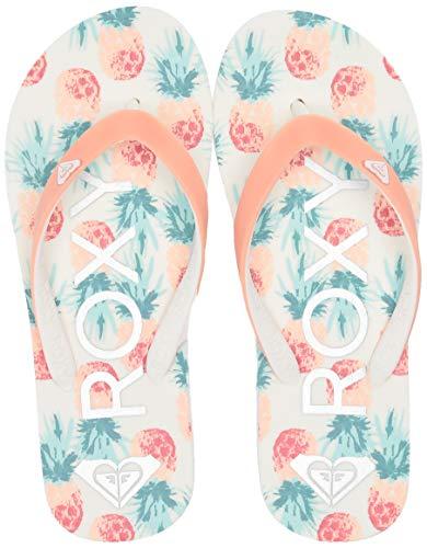 Roxy Girl's RG Tahiti Flip Flop Sandal , peach parfait , 3 M US Big - Flip Flop Kids