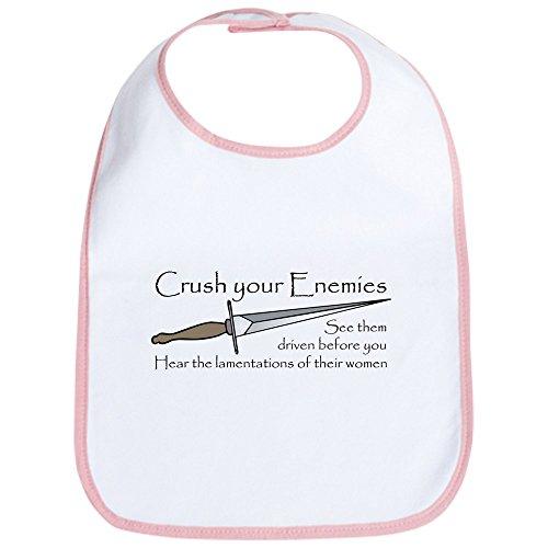 CafePress - Crush Your Enemies Bib - Cute Cloth Baby Bib, Toddler Bib (Robe Hook Governor)